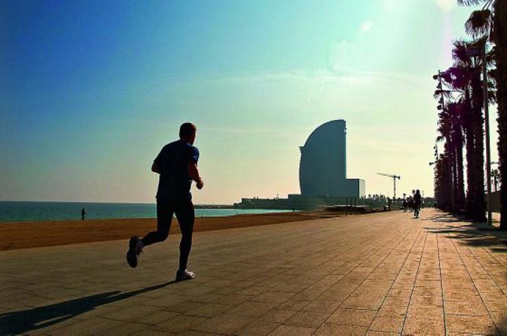 Entrenar al aire libre en Barcelona
