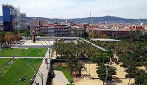 Entrenar en el Parque Joan Miró